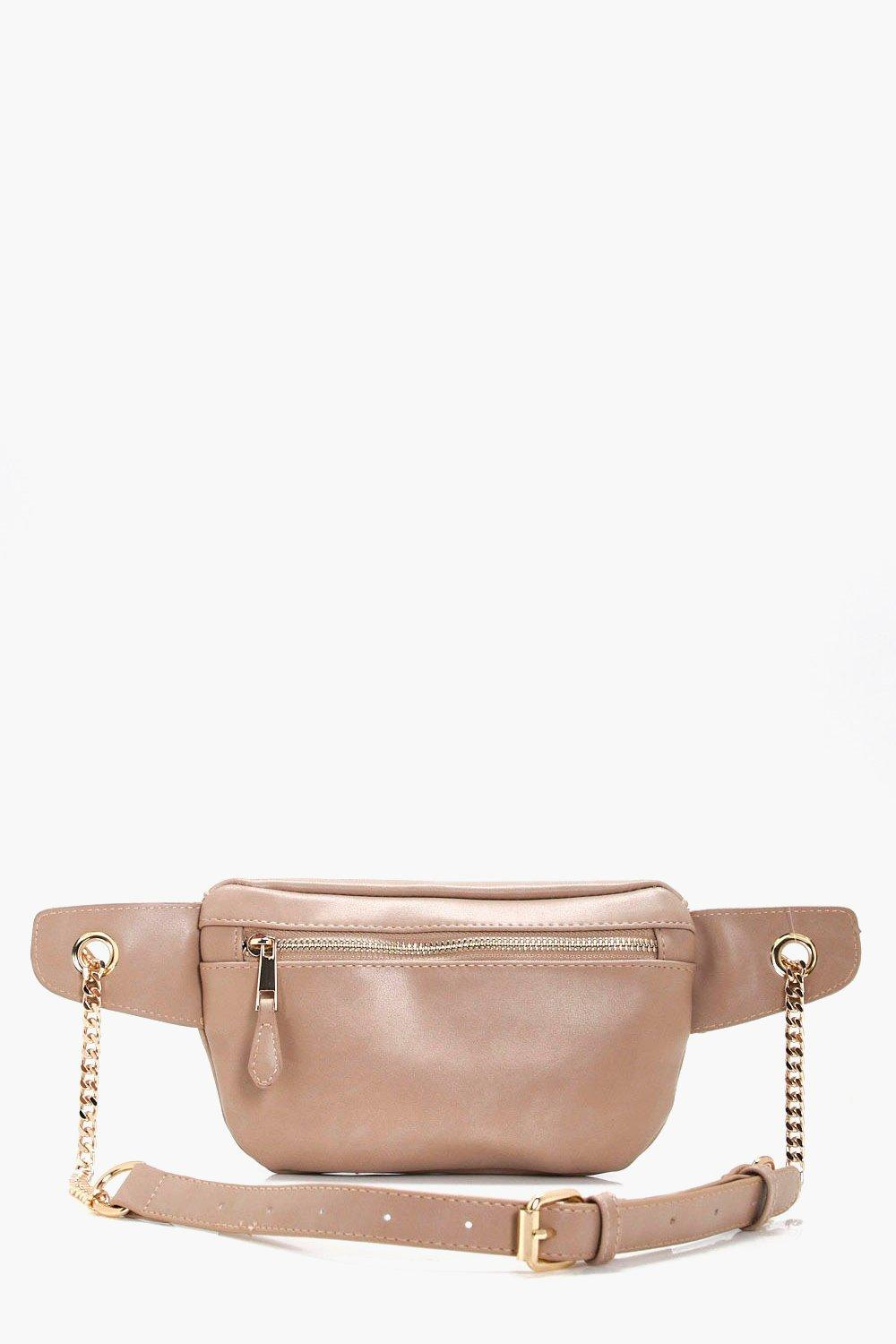 Chain Detail Bumbag - cream - Ellie Chain Detail B