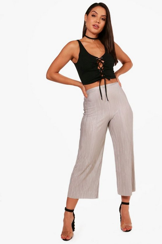 Olivia Pleated Wide Leg Culottes