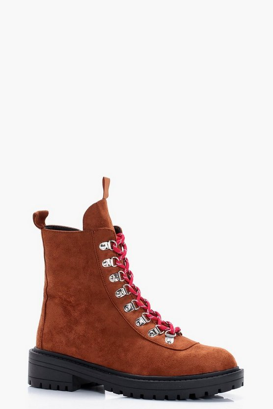 Bryanna Lace Up Biker Boots