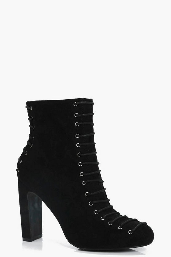 Daisy Lace Up Front & Back Ankle Boot