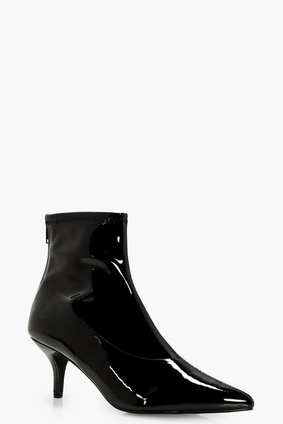 Lorna Low Heel Pointed Sock Boot