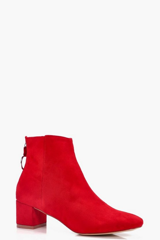 O Ring Pull Ankle Boots