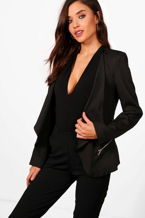 Katy Zip Waterfall Blazer