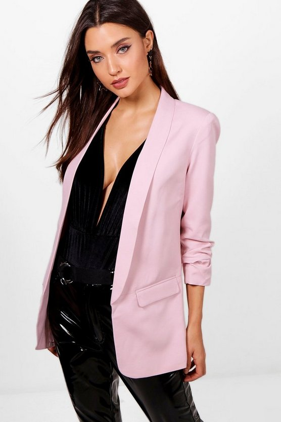 Lucy Ruched Sleeve Blazer