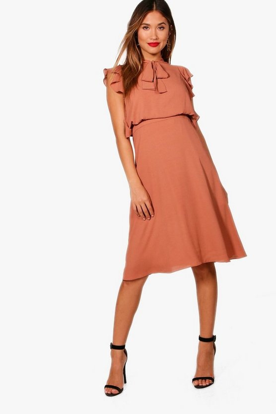 Lucy Frill Detail Tailored Dress