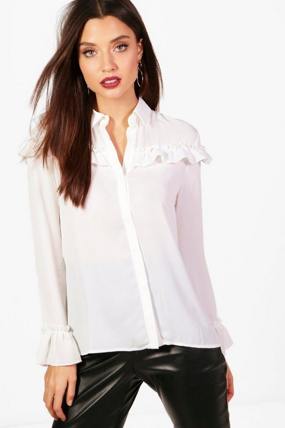 Kaley Frill Detail Blouse