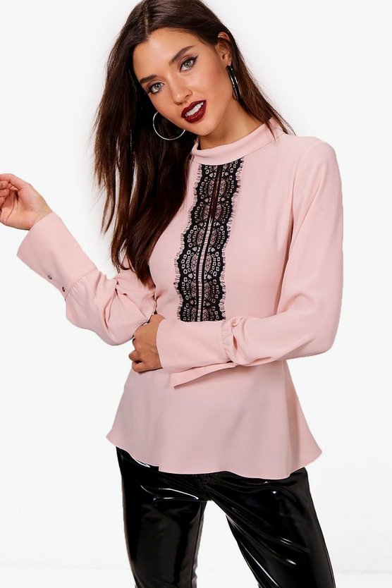 Harriet Lace Trim Blouse