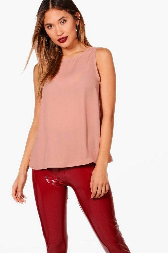 Aimee Woven Double Layer Shell Top