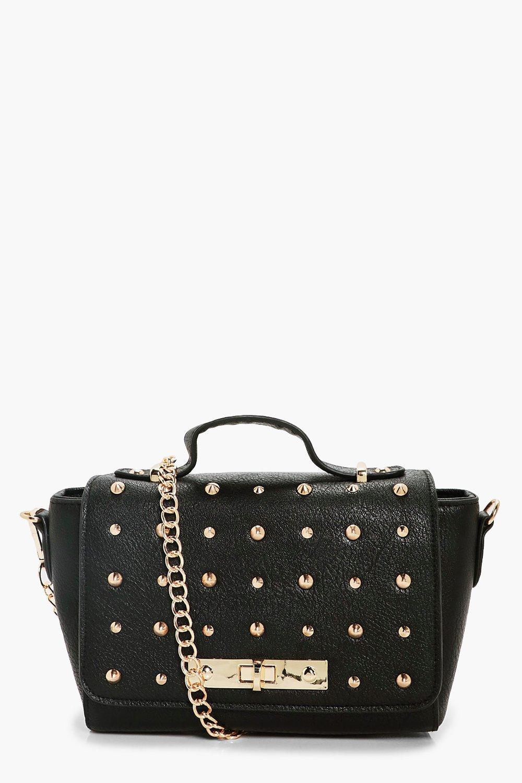 Multi Stud Cross Body Bag - black - Lizzie Multi S