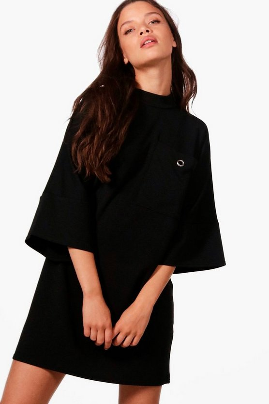 Alana Oversized Pocket Detail Shift Dress