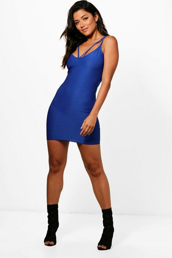 Lauren Textured Strappy Bodycon Dress