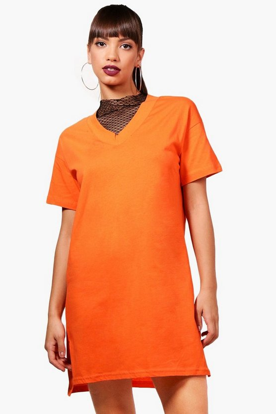 Ashley Mesh T-Shirt Dress
