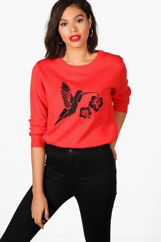 Georgina Bird Embroidered Jumper