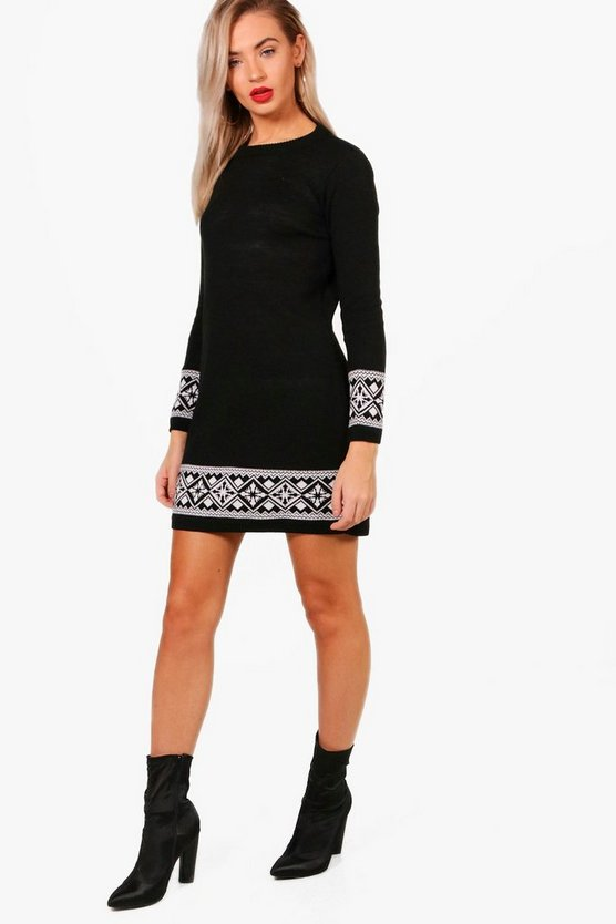 Camilla Fairisle Christmas Jumper Dress
