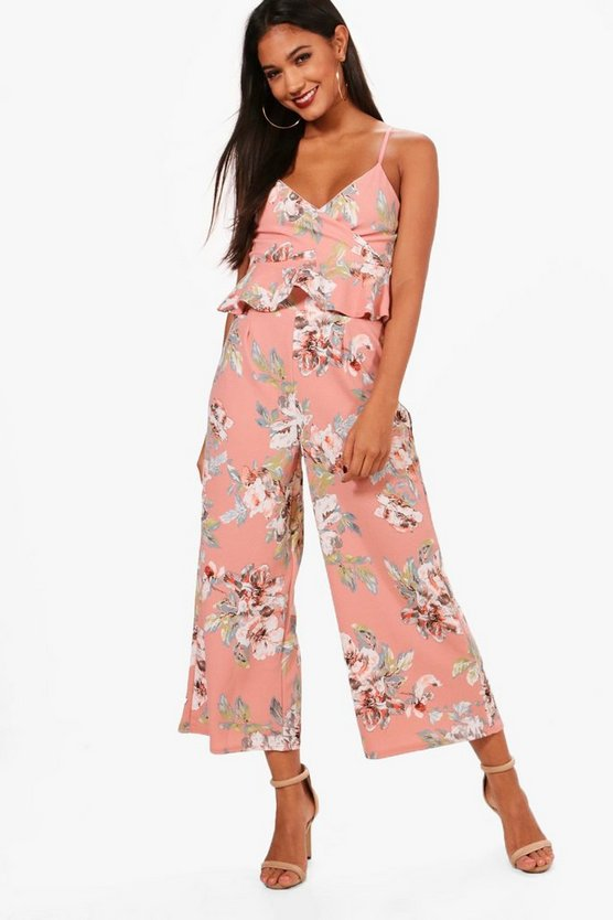 Jade Peplum Bralette and Culotte Co-Ord Set