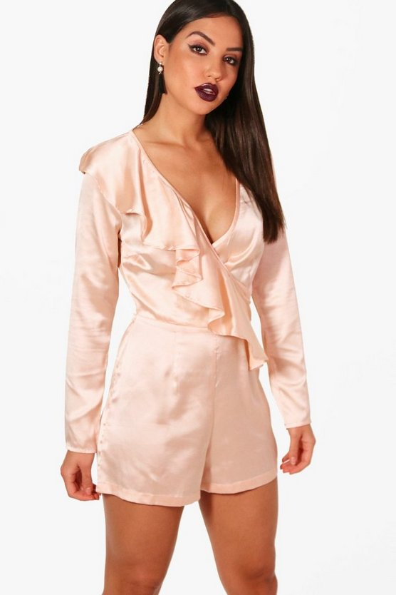 Polly Ruffle Front Playsuit