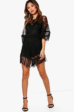 Boutique Lace And Tassel Playsuit