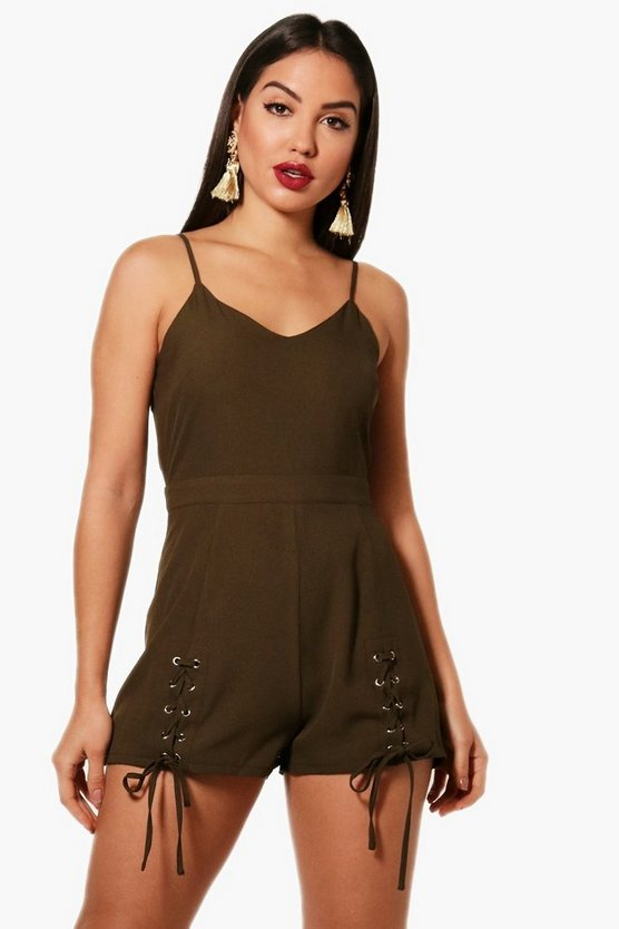 Jasmine Lace Up Detail Playsuit