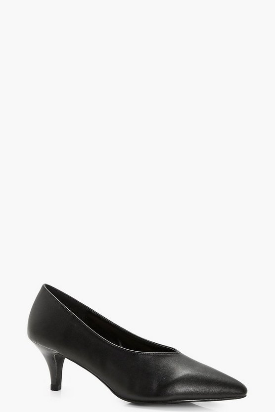 Poppy Pointed High Vamp Kitten Heels