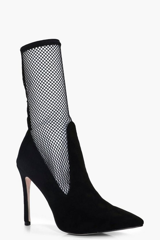 Alisha Long Mesh Sock Stiletto Court