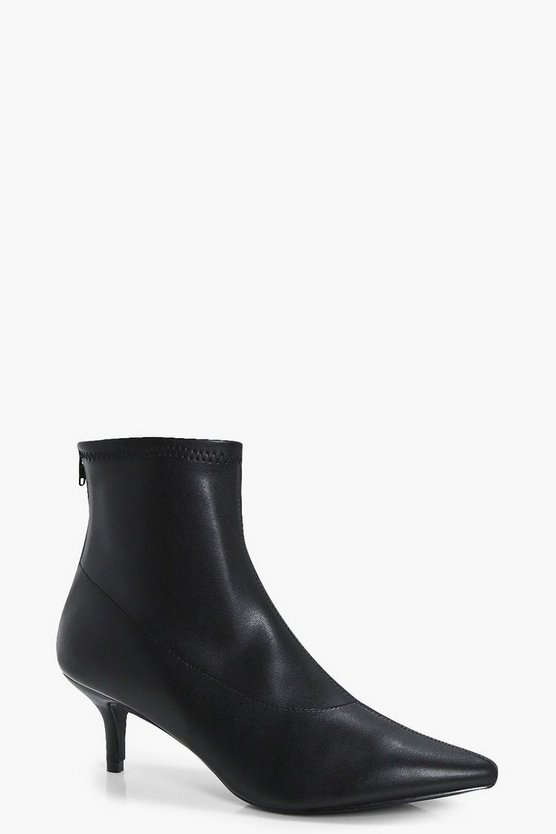 Jessica Low Kitten Heel Pointed Sock Boots