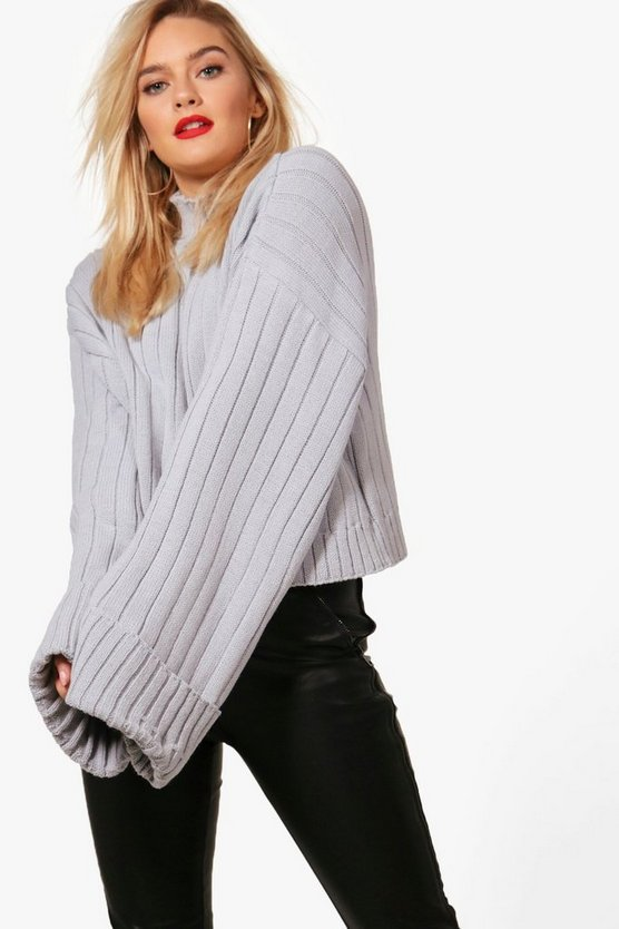 Sophie Maxi Sleeve Wide Rib Jumper