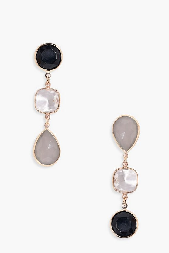 Sophia Multi Stone Drop Earrings