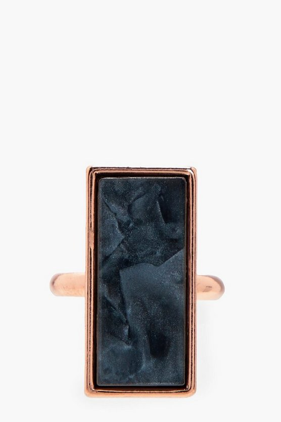 Mia Statement Marble Stone Ring
