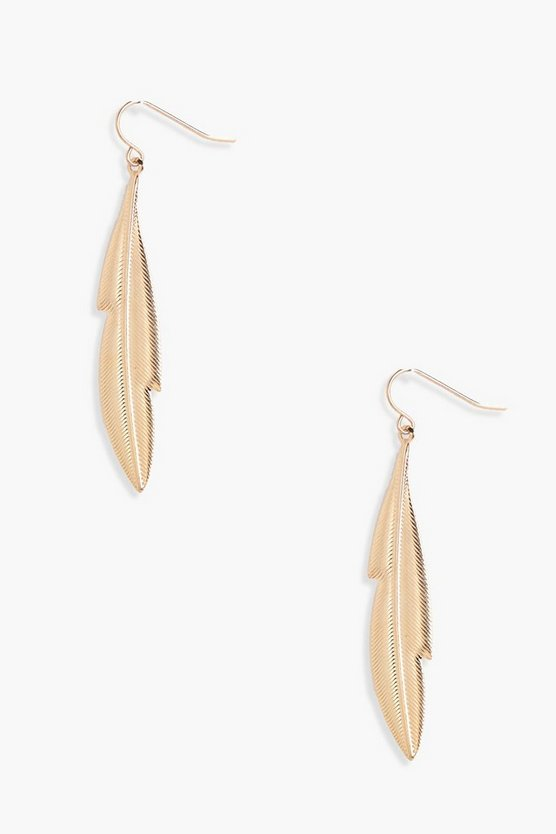 Molly Feather Drop Earrings