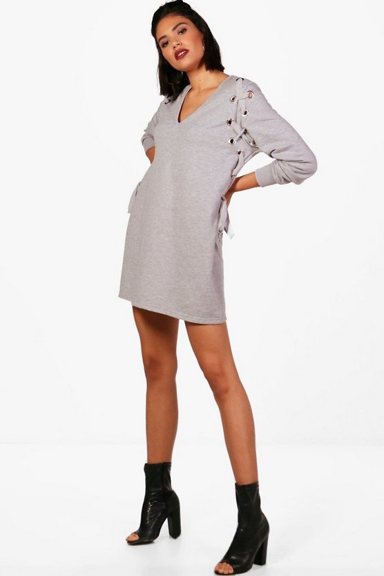 Eyelet Sweat Dress
