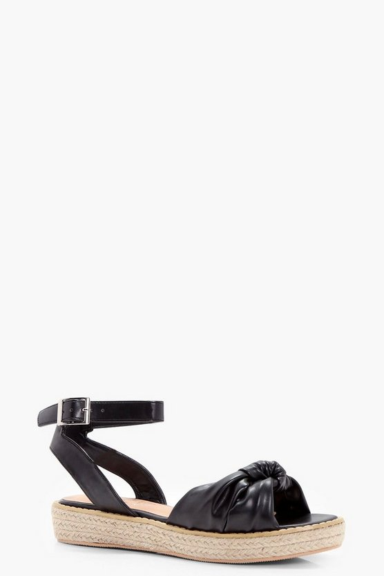 Lucy Bow Front Espadrille Sandal