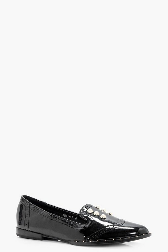 Laura Pearl & Stud Trim Loafer
