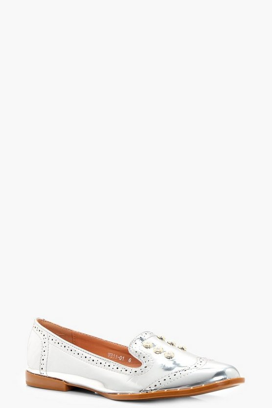 Julia Pearl & Stud Trim Loafer