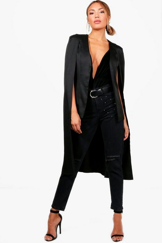 Susannah High Low Woven Tailored Cape