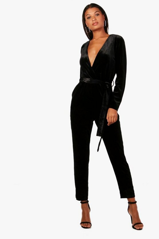 Anna Velvet Tailored Jumpsuit