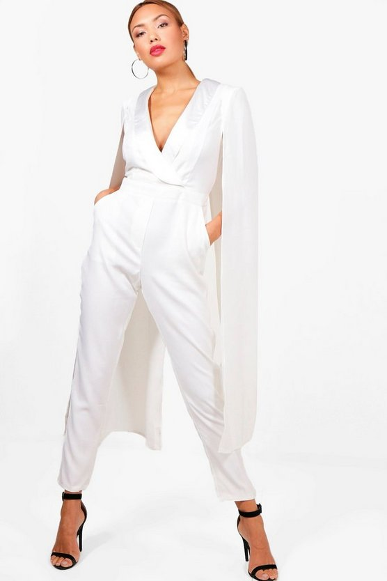 Tailored Cape Tux Jumpsuit