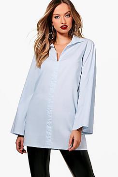 Bluse mit auffallenden Hemd - Boohoo.com