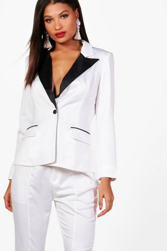 Heather Boutique Tailored Tux Suit Jacket