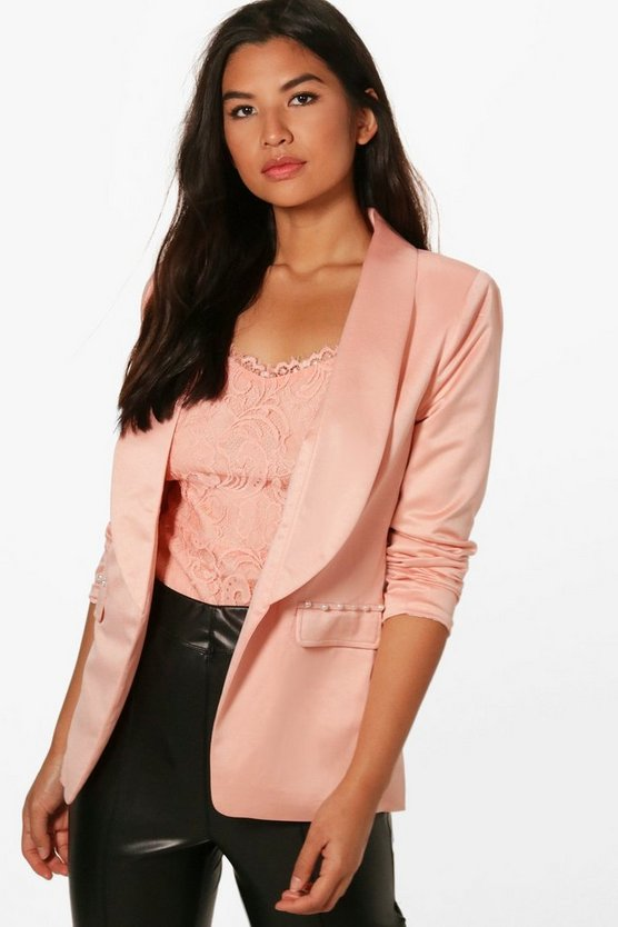 Pearl Button Detail Tailored Blazer