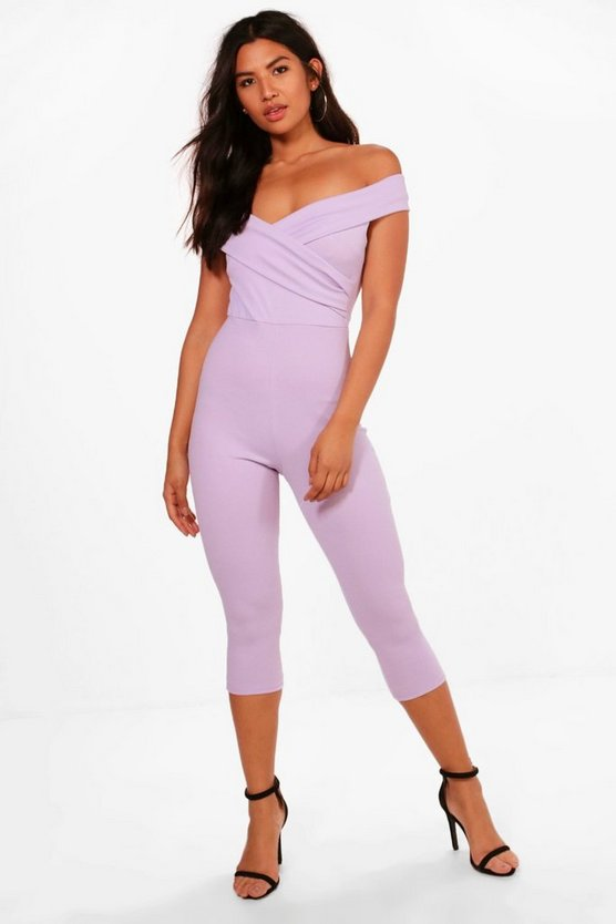 Kayley Off The Shoulder Culotte Jumpsuit