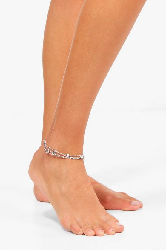 Moira Layered Beaded Anklet