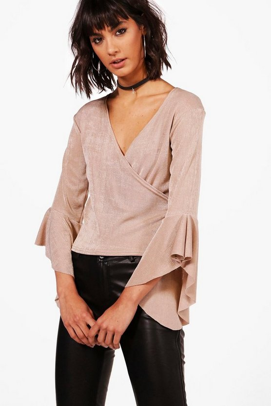 Lauren Cross Over Wrap Top