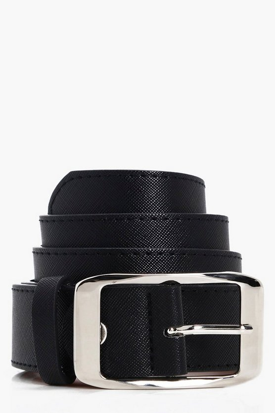 Crosshatch Chunky Boyfriend Belt
