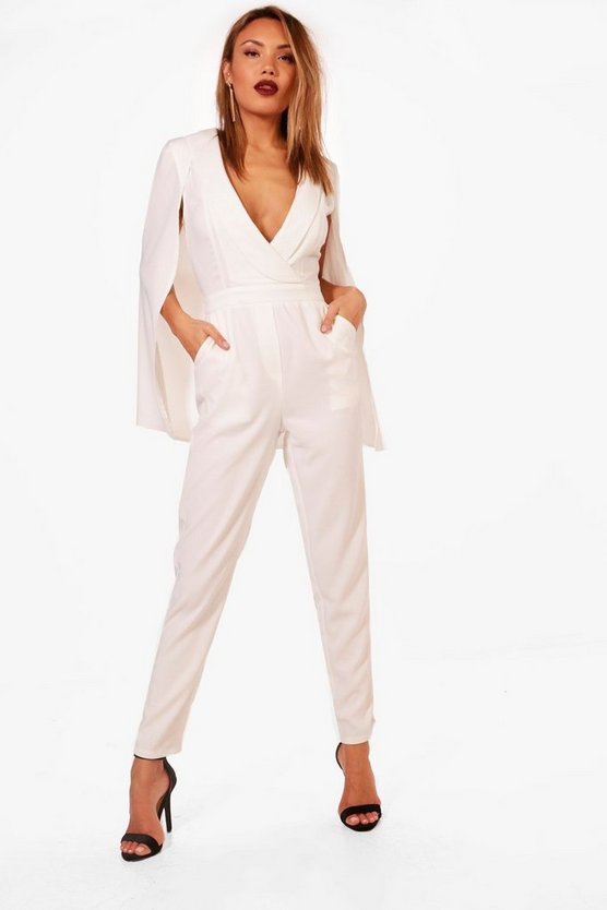 Tailored Cape Jumpsuit