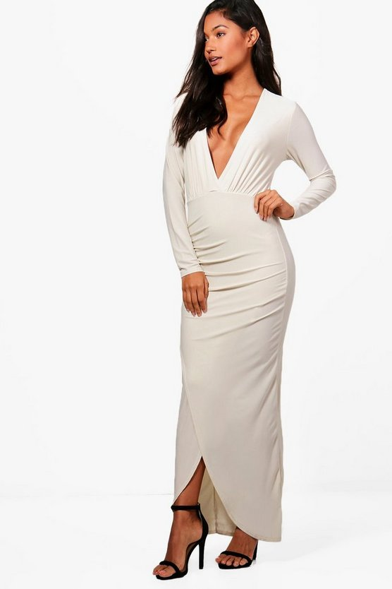 Shannon Slinky Wrap Maxi Dress