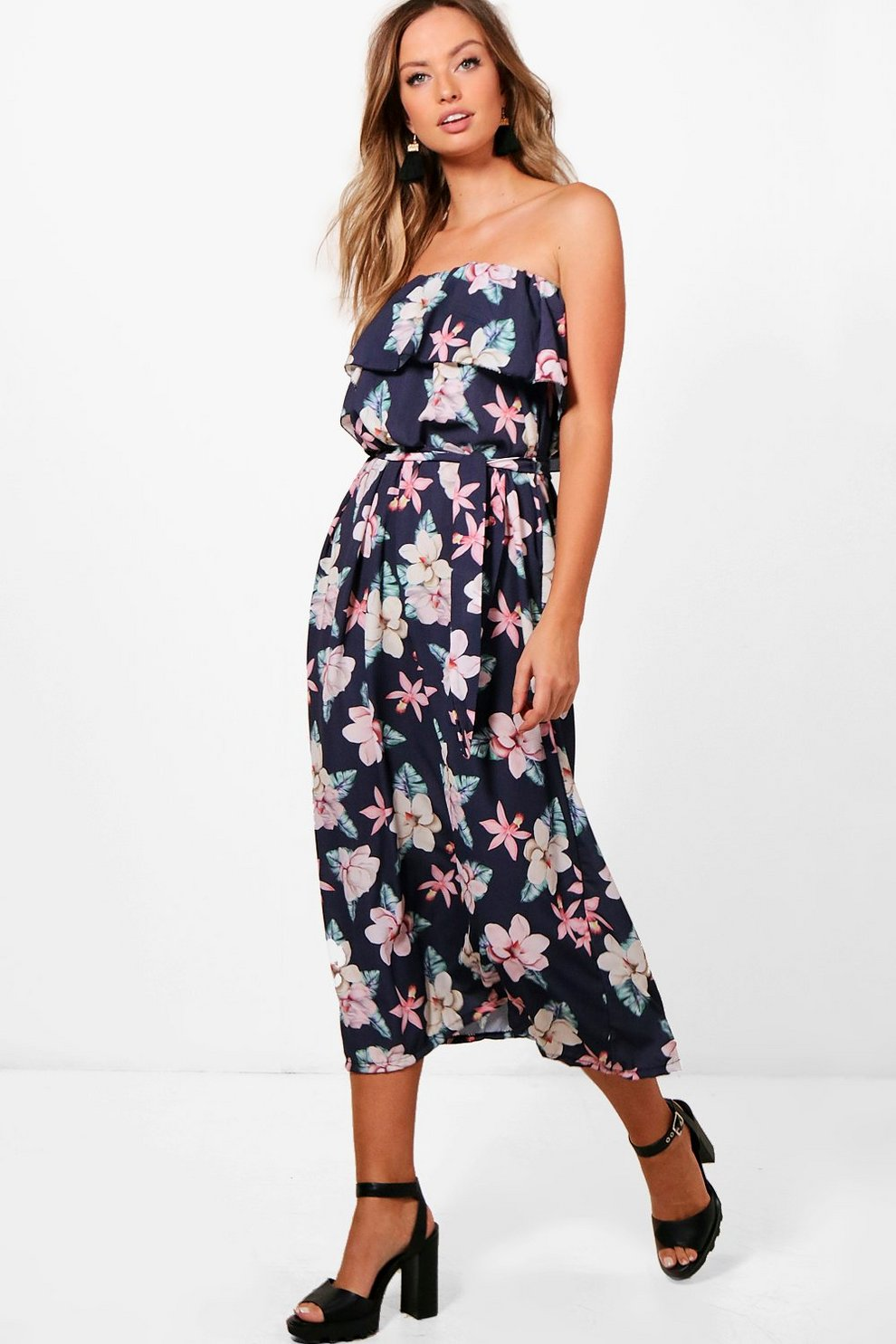 Boohoo Dark Floral Woven Maxi Dress Looking For Lowest Price Online Finishline Buy Cheap Best Place The Cheapest Cheap Price rwJNEO3