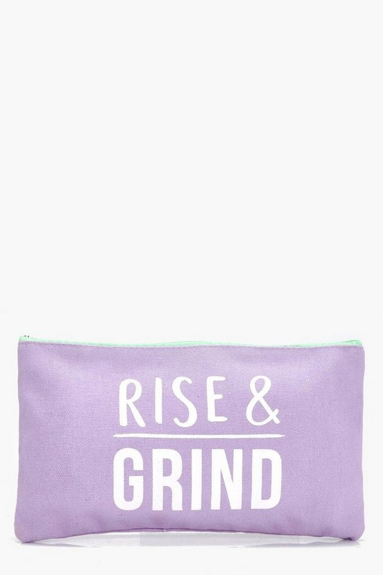 Rise And Grind Makeup Bag