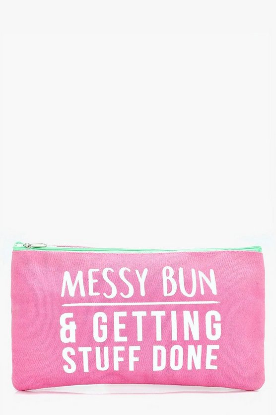 Messy Bun Makeup Bag