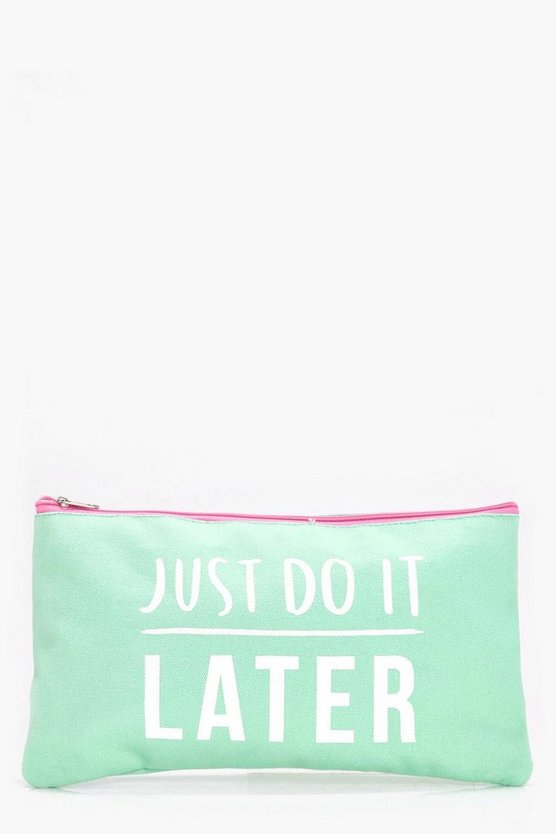 Just Do It Later Makeup Bag