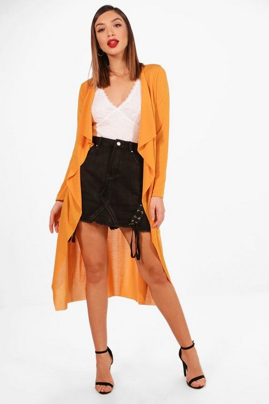 Joey Waterfall Belted Knitted Duster Cardigan